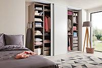 Porte de placard coulissante blanche Form Valla 92,2 x 245,6 cm