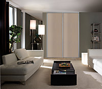 Porte de placard coulissante décor chêne gris Form Valla 92,2 x 245,6 cm