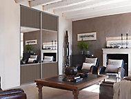 Porte de placard coulissante miroir décor bois foncé Form Valla 92,2 x 247,5 cm