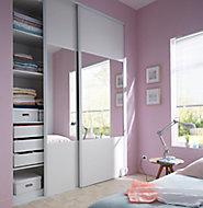 Porte de placard coulissante structurée blanche Form Valla 92,2 x 245,6 cm