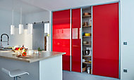 Porte de placard coulissante verre laqué rouge Form Valla 92,2 x 247,5 cm