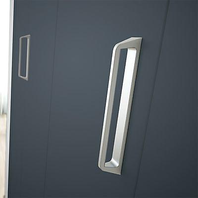 porte de placard pliante metal anthracite kazed 77 5 x 205 cm