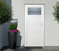Porte de service 1/4 vitrée PVC 90 x h.205 cm poussant gauche