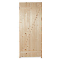 Porte de service bois 80 x h.200 cm poussant droit
