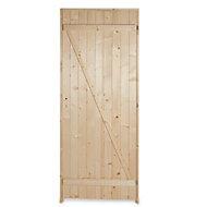 Porte de service bois 80 x h.200 cm poussant gauche