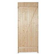 Porte de service bois 90 x h.200 cm poussant droit