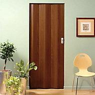 Porte extensible PVC palissandre Spacy 205 x 84 cm