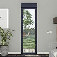 Porte fenêtre alu 1 vantail + volet roulant électrique GoodHome gris - l.80 x h.215 cm, tirant gauche