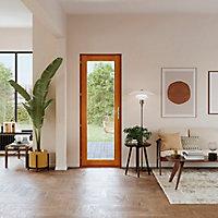 Porte fenêtre bois 1 vantail GoodHome - l.80 x h.205 cm, tirant droit