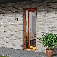 Porte fenêtre bois 1 vantail GoodHome - l.80 x h.205 cm, tirant gauche