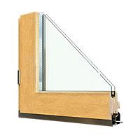 Porte fenêtre bois 1 vantail GoodHome - l.80 x h.215 cm, tirant droit