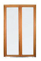 Porte fenêtre bois 2 vantaux GoodHome - l.120 x h.205 cm, tirant droit