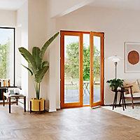 Porte fenêtre bois 2 vantaux GoodHome - l.140 x h.215 cm, tirant droit