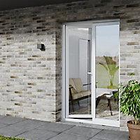 Porte fenêtre PVC 1 vantail tirant GoodHome blanc - l.80 x h.205 cm, tirant droit
