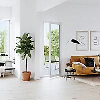Porte fenêtre PVC 1 vantail tirant GoodHome blanc - l.80 x h.215 cm, tirant droit