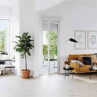 Porte fenêtre PVC 1 vantail tirant + volet roulant électrique GoodHome blanc - l.80 x h.205 cm, tirant gauche