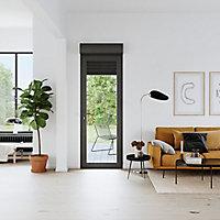 Porte fenêtre PVC 1 vantail tirant + volet roulant électrique GoodHome gris - l.80 x h.205 cm, tirant droit