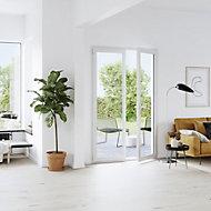 Porte fenêtre PVC 2 vantaux GoodHome blanc - 100 x h.215 cm, tirant droit