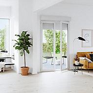 Porte fenêtre PVC 2 vantaux tirant + volet roulant électrique GoodHome blanc - l.120 x h.205 cm, tirant droit