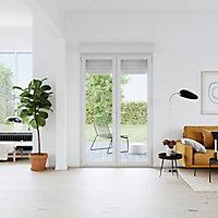 Porte fenêtre PVC 2 vantaux tirant + volet roulant électrique GoodHome blanc - l.120 x h.215 cm, tirant droit