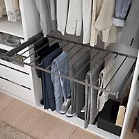 Porte pantalons coulissant en acier gris 11 barres GoodHome Atomia P58cm x l100 cm
