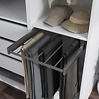 Porte pantalons coulissant en acier gris 5 barres GoodHome Atomia P 58 l 50 cm