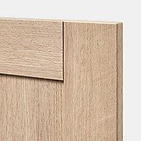Porte pour colonne électroménager GoodHome Alpinia chêne l. 29.7 cm x H. 128.7 cm