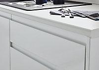 Porte pour colonne électroménager GoodHome Garcinia blanc brillant l. 59.7 cm x H. 62.6 cm