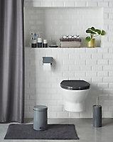 Porte savon céramique gris COOKE & LEWIS Diani