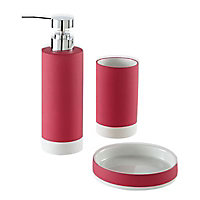 Porte savon céramique rose Cooke & Lewis Baya