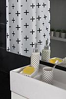 Porte savon en céramique Norasia Cross blanc et noir