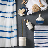 Porte-savon Islay blanc et bleu
