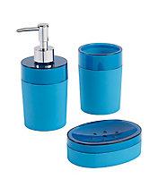Porte savon plastique bleu Cooke & Lewis Doumia