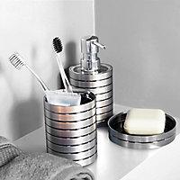 Porte savon plastique effet métal Cooke & Lewis Kribi