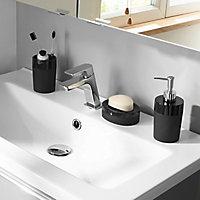 Porte savon plastique noir Cooke & Lewis Doumia