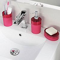 Porte savon plastique rose COOKE & LEWIS Doumia