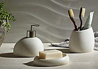Porte savon résine blanc Cooke & Lewis Padma