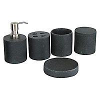 Porte savon résine noir Form Etna
