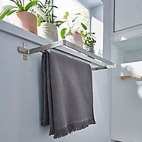 Porte-serviettes Amantea 2barres inox brossé GoodHome 50 cm