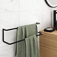 Porte serviettes double noir Elland