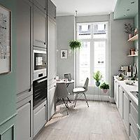 Porte vitrée de meuble de cuisine GoodHome Garcinia ciment l. 49.7 cm x H. 71.5 cm