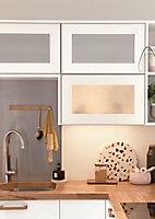 Porte vitrée de meuble de cuisine GoodHome Stevia Blanc l. 29.7 cm x H. 71.5 cm