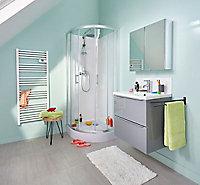 Portes de douche angle circulaire Cooke & Lewis Onega transparent 80 x 80 cm