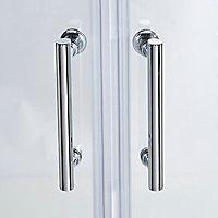 Portes de douche angle circulaire Cooke & Lewis Onega transparent 90 x 90 cm