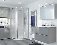 Portes de douche angle circulaire transparent GoodHome Beloya 90 x 90 cm