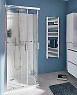 Portes de douche angle droit Cooke & Lewis Onega transparent 80 x 80 cm