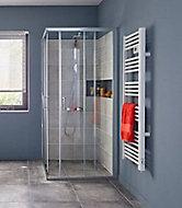 Portes de douche angle droit Cooke & Lewis Onega transparent 90 x 90 cm