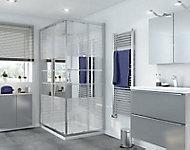 Portes de douche angle droit miroir GoodHome Beloya 120 x 80 cm