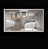 Portes de douche angle droit transparent GoodHome Beloya 120 x 80 cm