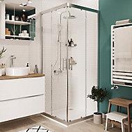 Portes de douche angle droit transparent GoodHome Beloya 80 x 80 cm